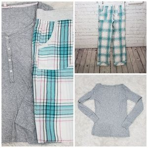 Victorias secret pajama set size small grey